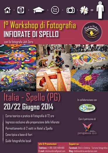"Primo workshop fotografico ""Infiorate di Spello"" con Click in Umbria"