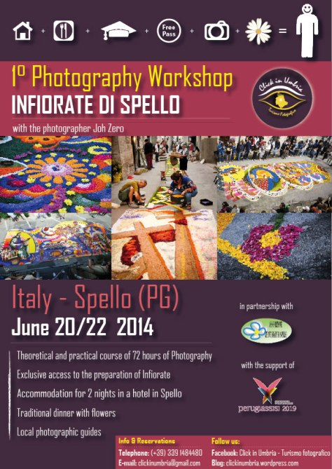 "1°Photography Workshop  ""Spello's Infiorate"" with Click in Umbria"
