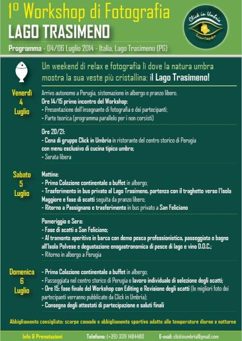 """Primo workshop fotografico """"Lago Trasimeno"""" con Click in Umbria"""