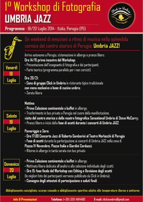 """Primo workshop fotografico """"Umbria JAZZ"""" con Click in Umbria"""