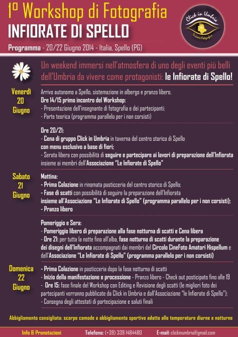 """Primo workshop fotografico """"Infiorate di Spello"""" con Click in Umbria"""