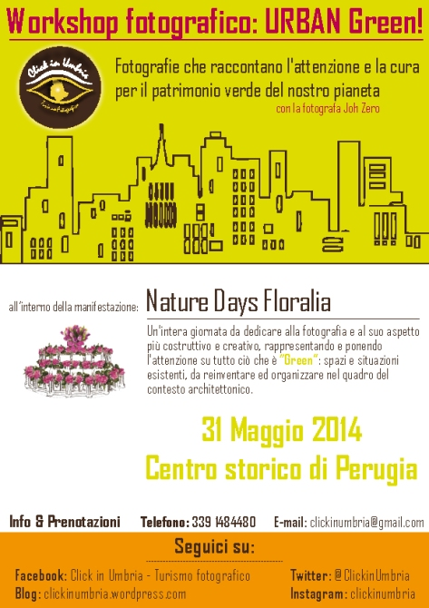 Nature Days Floralia | Workshop fotografico URBAN Green - Click in Umbria