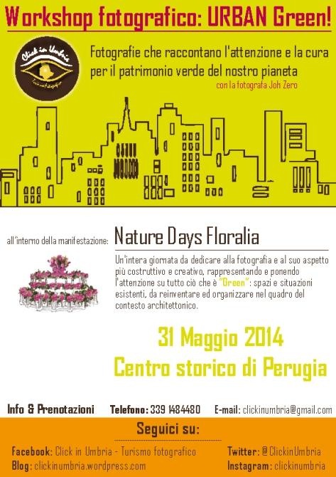 Nature Days Floralia | Workshop fotografico URBAN Green - Click in Umbria
