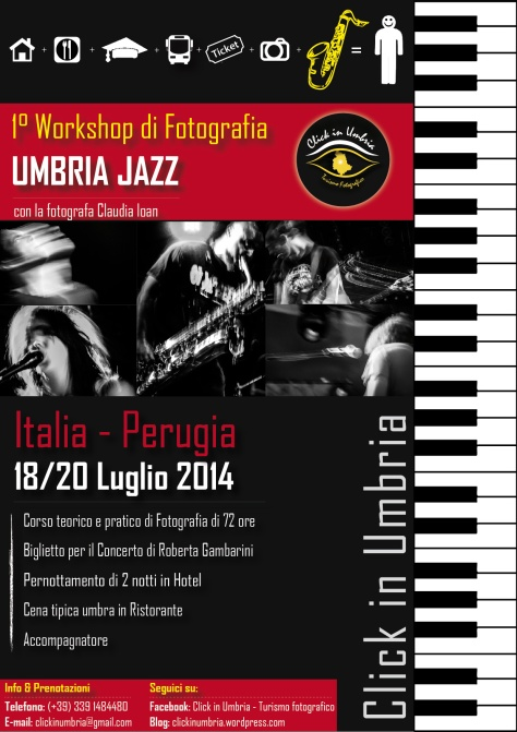 "Primo workshop fotografico ""Umbria JAZZ"" con Click in Umbria"